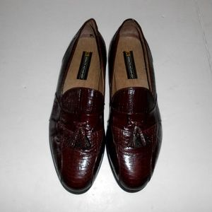 Stacy Adams 11 M Snake and leather dress shoes